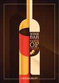 Modern wine bar poster design.
