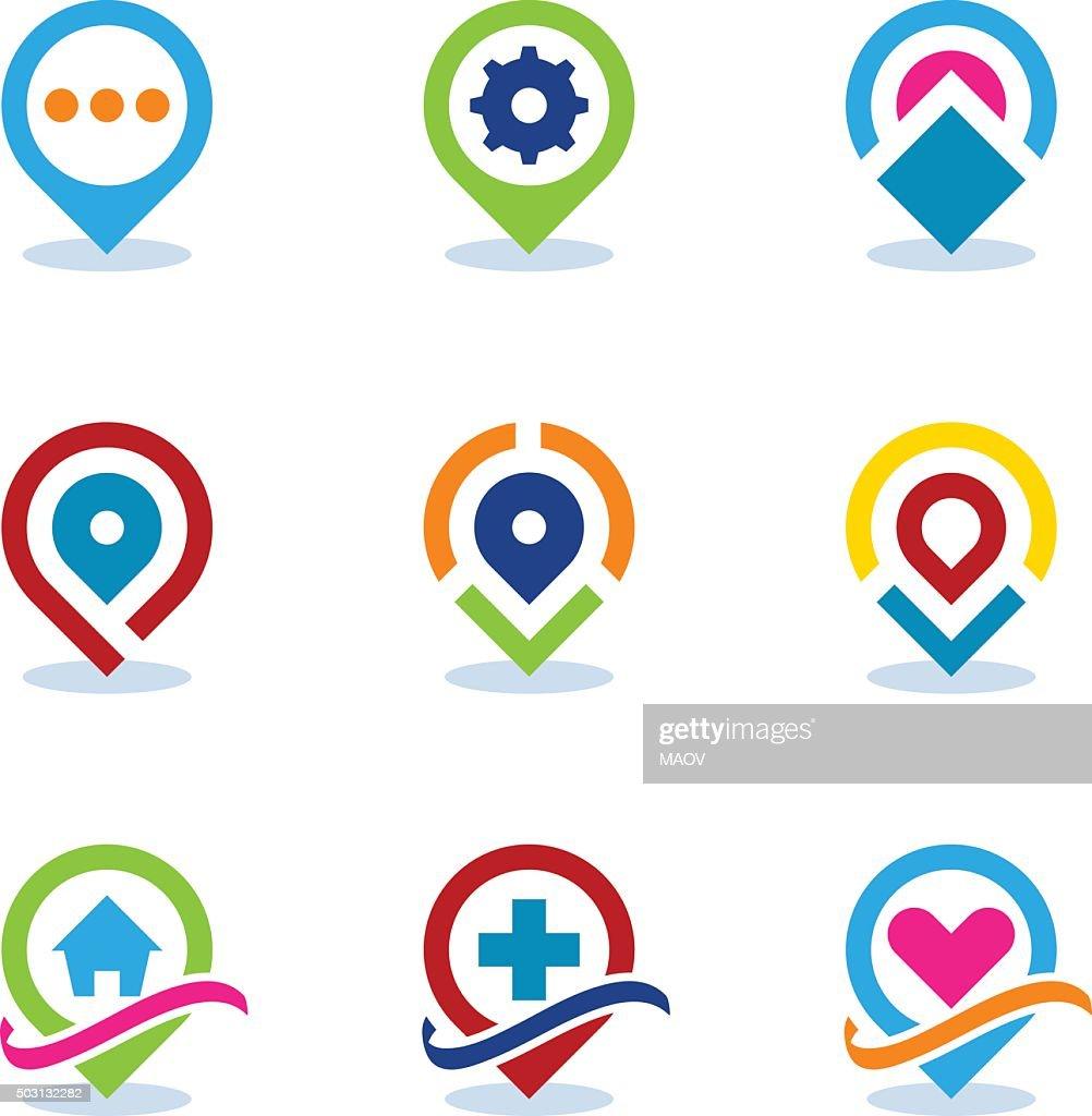 Modern World App Map Locator Social Internet Community Position Icon