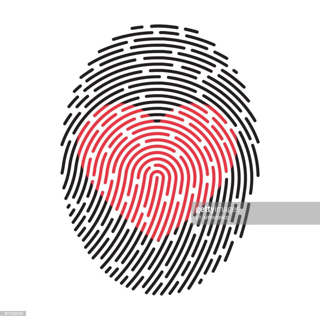 Moderne Fingerprint : Stock Illustration