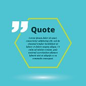 Moderrn quote blank template. Vector concept.