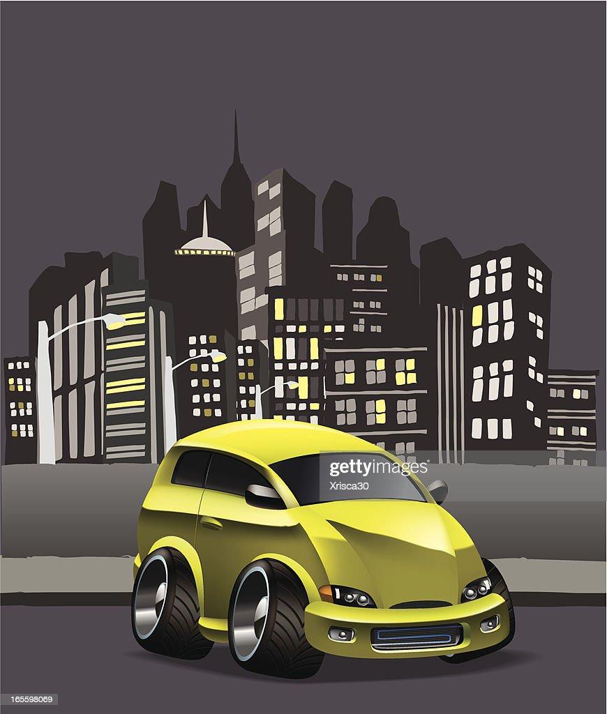 modified hatchback : stock illustration