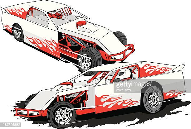 modsw - race car stock illustrations, clip art, cartoons, & icons