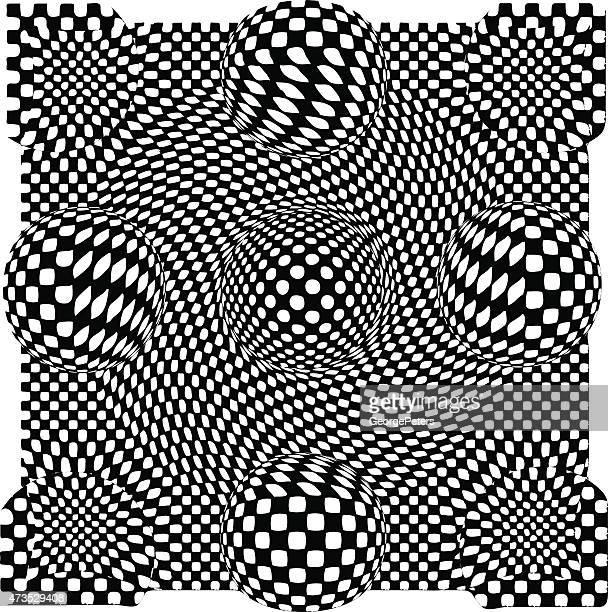 セーヌ波型モアレスカートハーフトーンパターン - モアレ縞点のイラスト素材/クリップアート素材/マンガ素材/アイコン素材