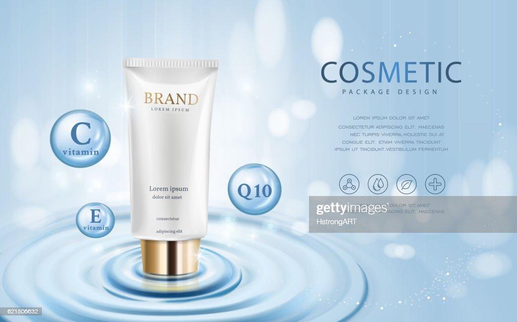 Moisturizing cosmetic ads template