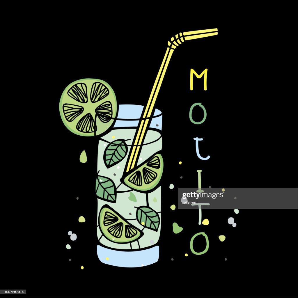 Mojito drink : stock illustration