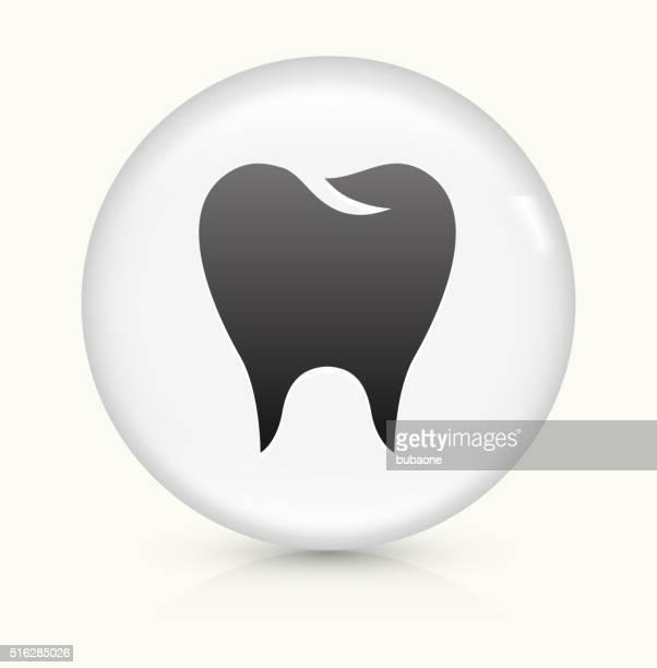 molar icon on white round vector button - molar stock illustrations