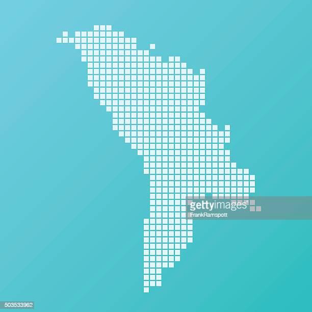 ilustraciones, imágenes clip art, dibujos animados e iconos de stock de moldavia mapa square patrón de fondo turquesa - frank ramspott