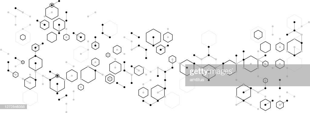 formula molecolare astratta : Illustrazione stock