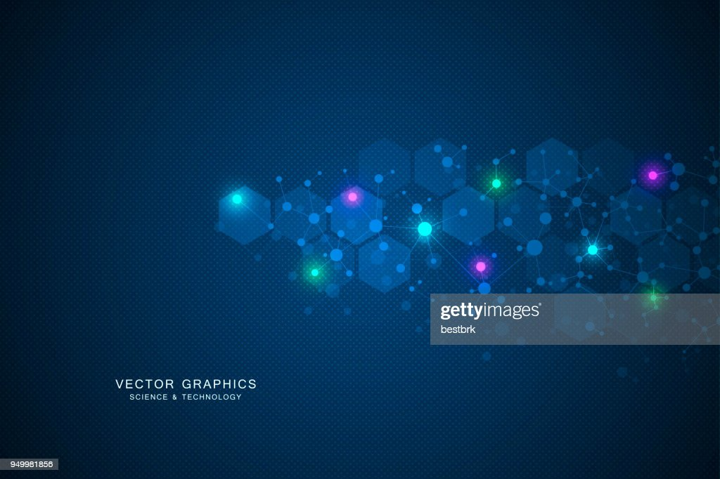 Molecular structure background. Genetic and science research