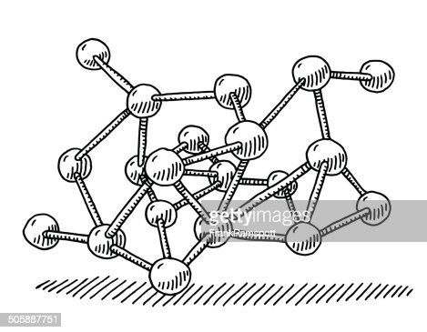 Molecular Structure Drawing High-Res Vector Graphic