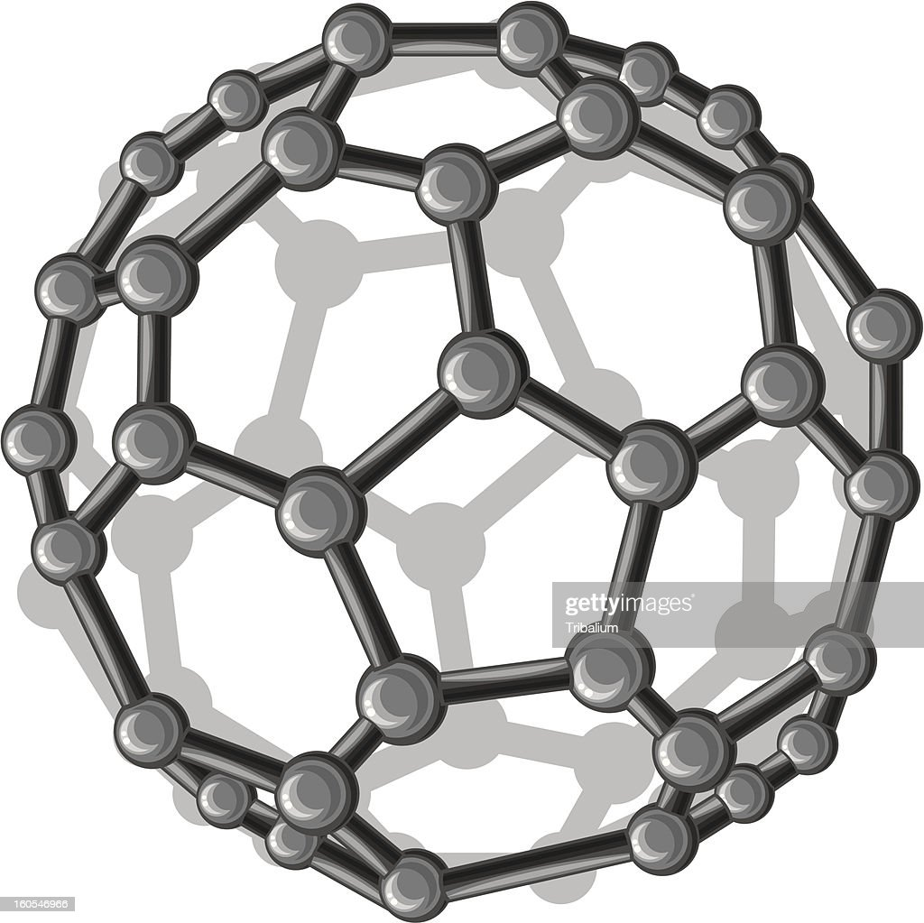 molecular structure of the  C60 buckyball