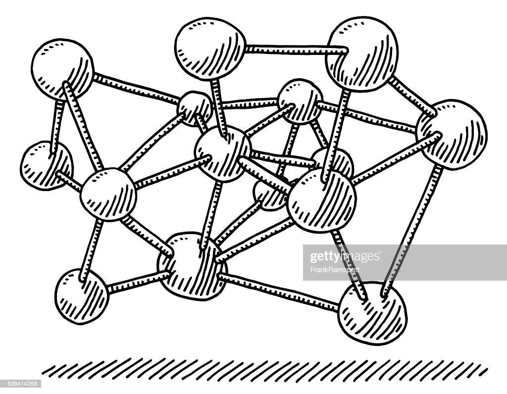molecular structure science drawing vector art getty images