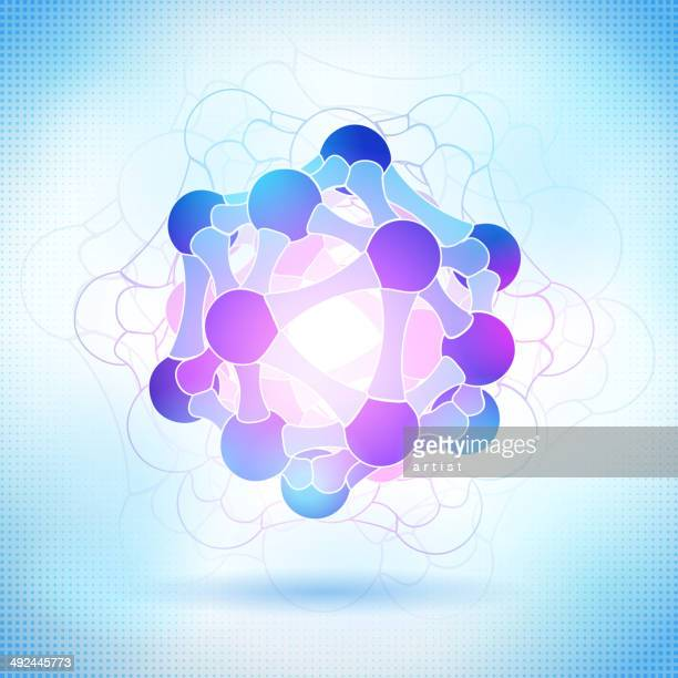 illustrazioni stock, clip art, cartoni animati e icone di tendenza di struttura molecolare - elettromagnetismo