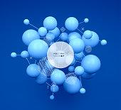 Molecule. 3D concept illustration. Vector template.