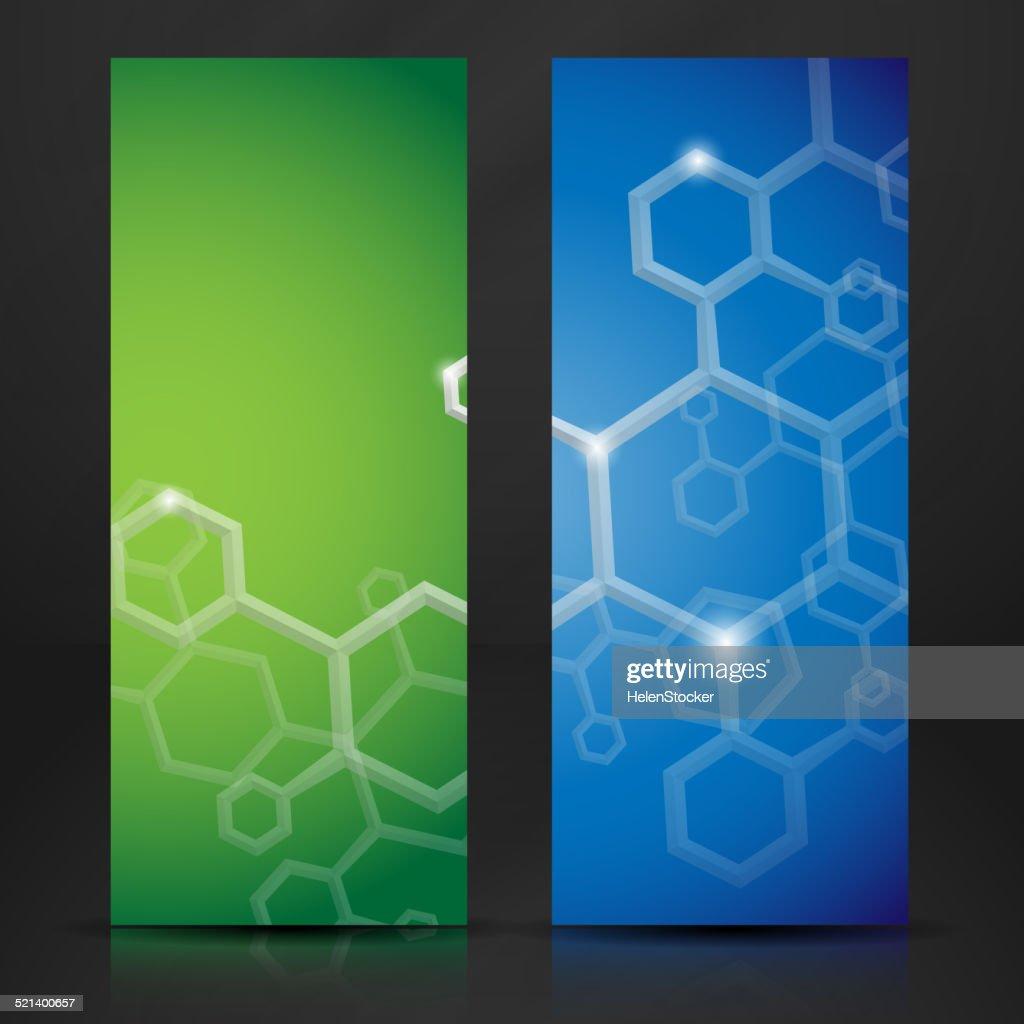 Molecule Abstract Banner.