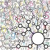 Molecule And Communication Background - Vector Illustration, Gra