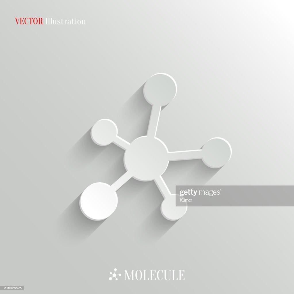 Molecule icon - vector education background