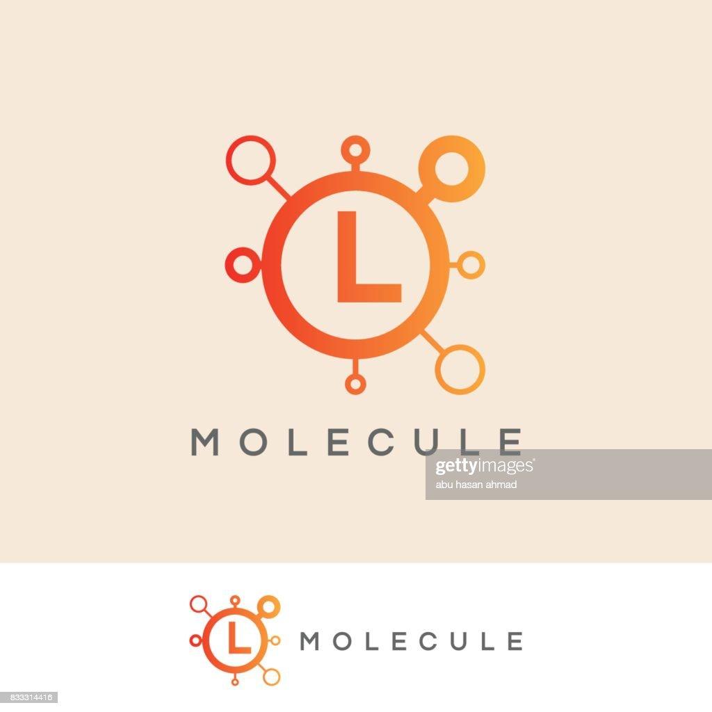 molecule initial Letter L icon design