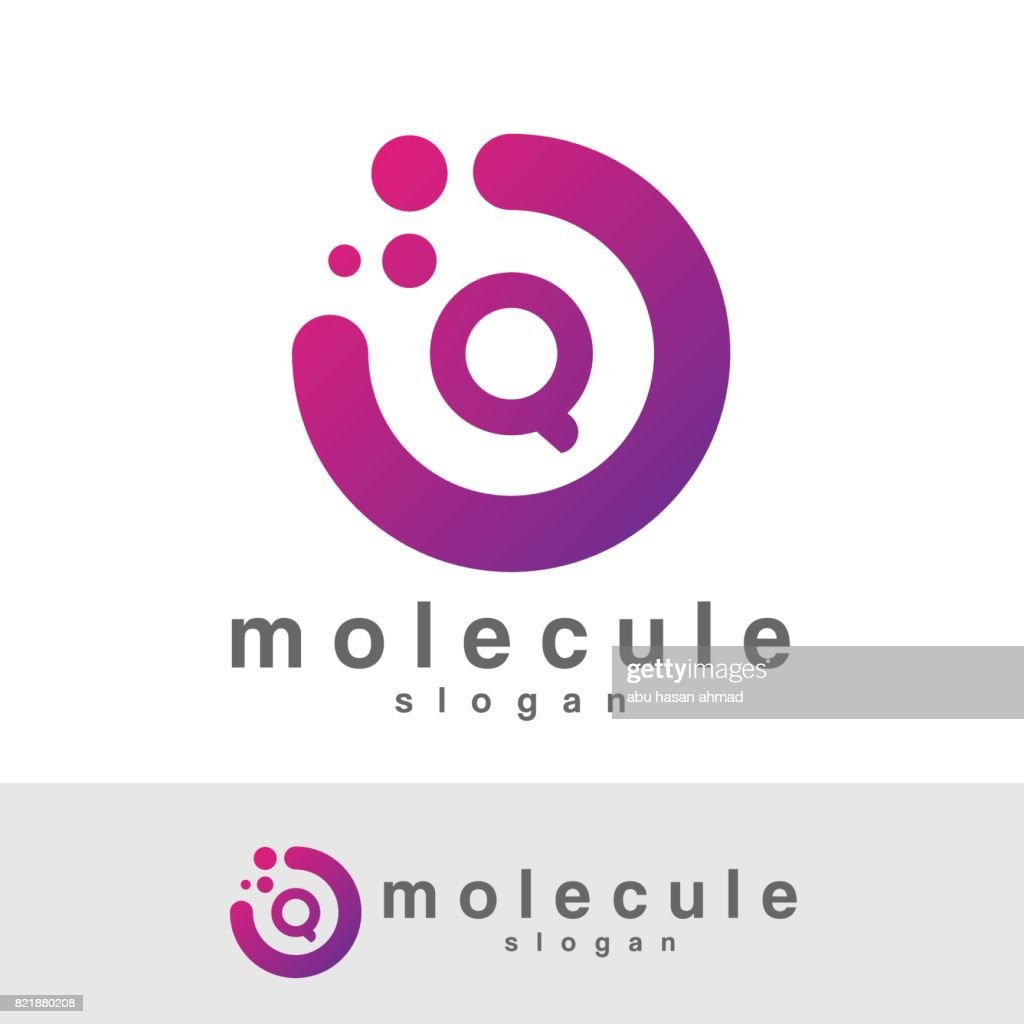 molecule initial Letter Q icon design