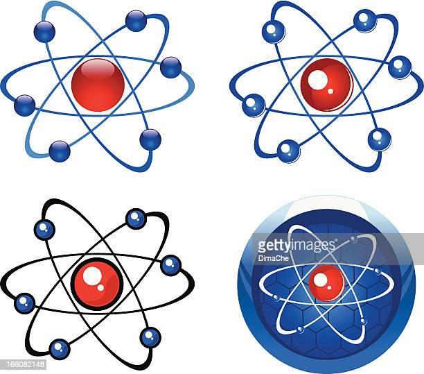 molecule simbols - quantum physics stock illustrations