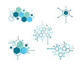 Molecule symbol vector illustration