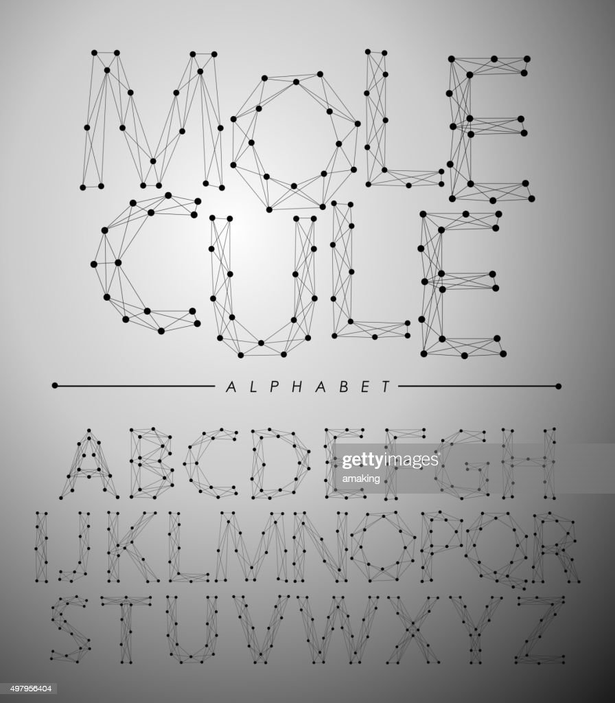 Molecule Trendy alphabet fonts.