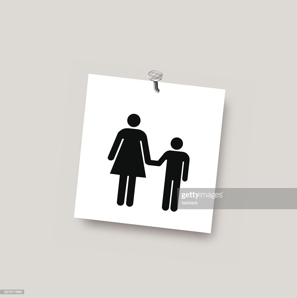 mom and son vector symbol