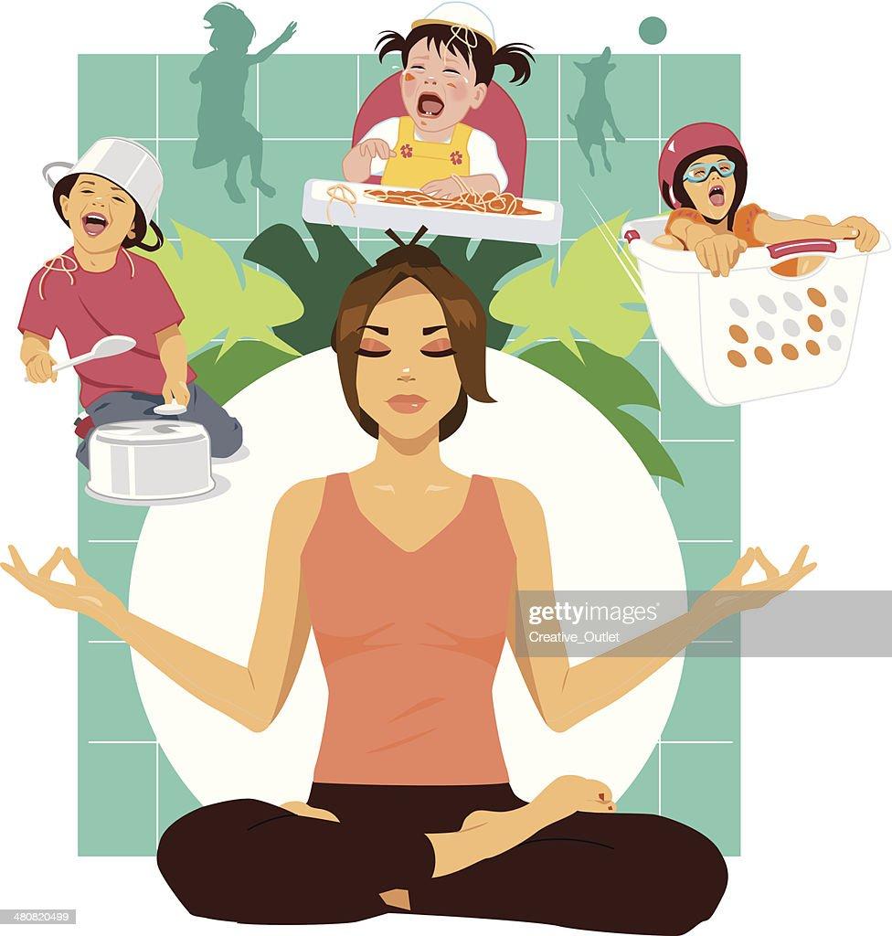 Mom Meditating C