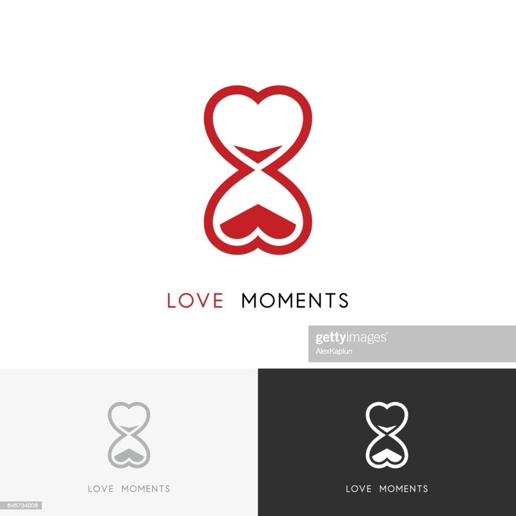 Moments of love - hourglass symbol