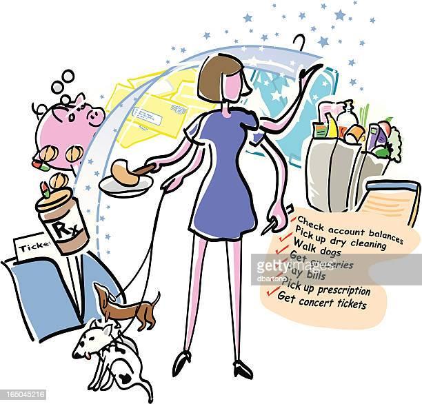 mom's day - shopping list stock illustrations, clip art, cartoons, & icons