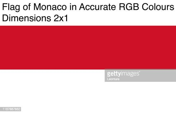 monaco flag in accurate rgb colors (dimensions 2x1) - monte carlo stock illustrations, clip art, cartoons, & icons