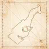 Monaco map in retro vintage style - old textured paper
