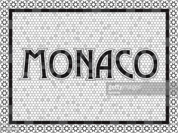 yachtbau alte altmodische mosaik fliesen typografie - monaco stock-grafiken, -clipart, -cartoons und -symbole