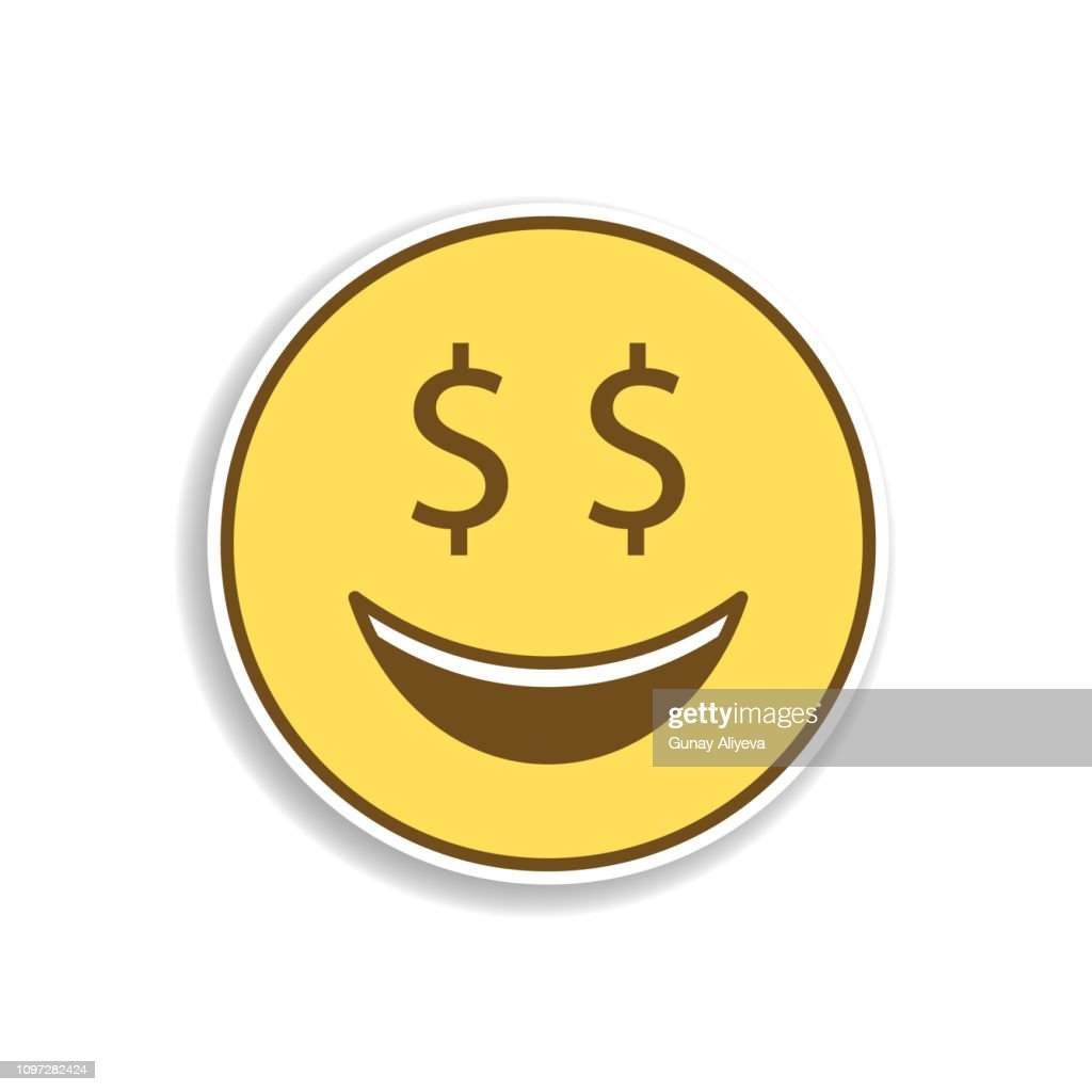 monetary colored emoji sticker icon. Element of emoji for mobile concept and web apps illustration.