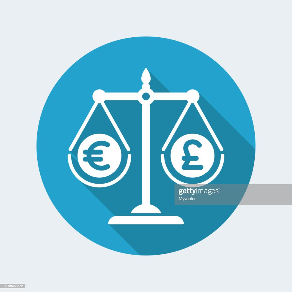 Monetary exchange value Euro Sterling