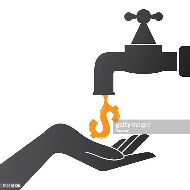 money and faucet concept