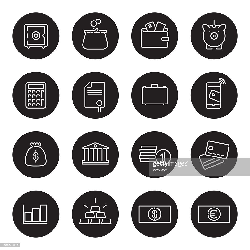 Money and Finance Line Icons Collection