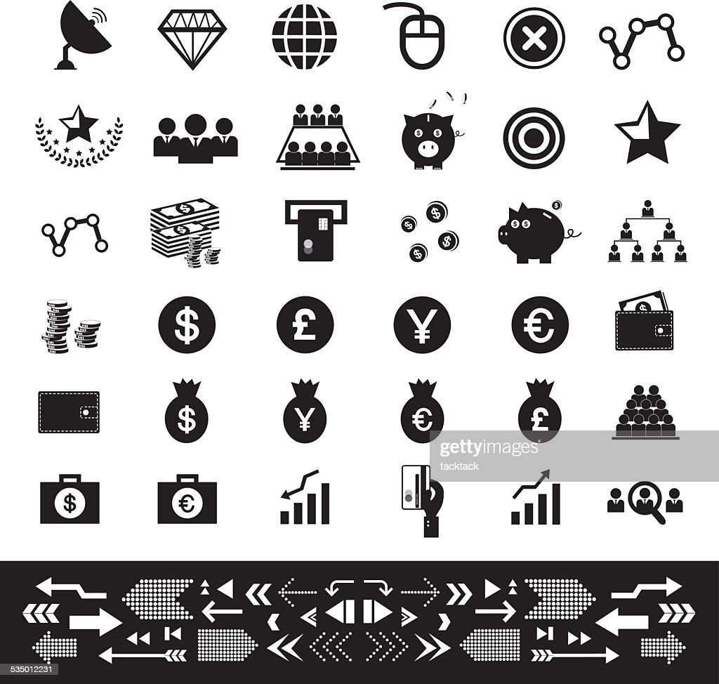 money and financial icon set