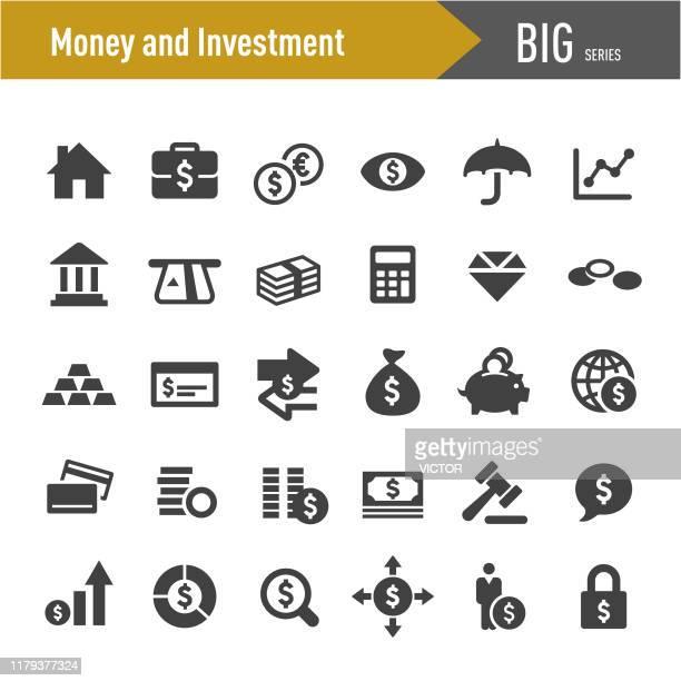 お金と投資アイコン - ビッグシリーズ - 金属鉱石点のイラスト素材/クリップアート素材/マンガ素材/アイコン素材