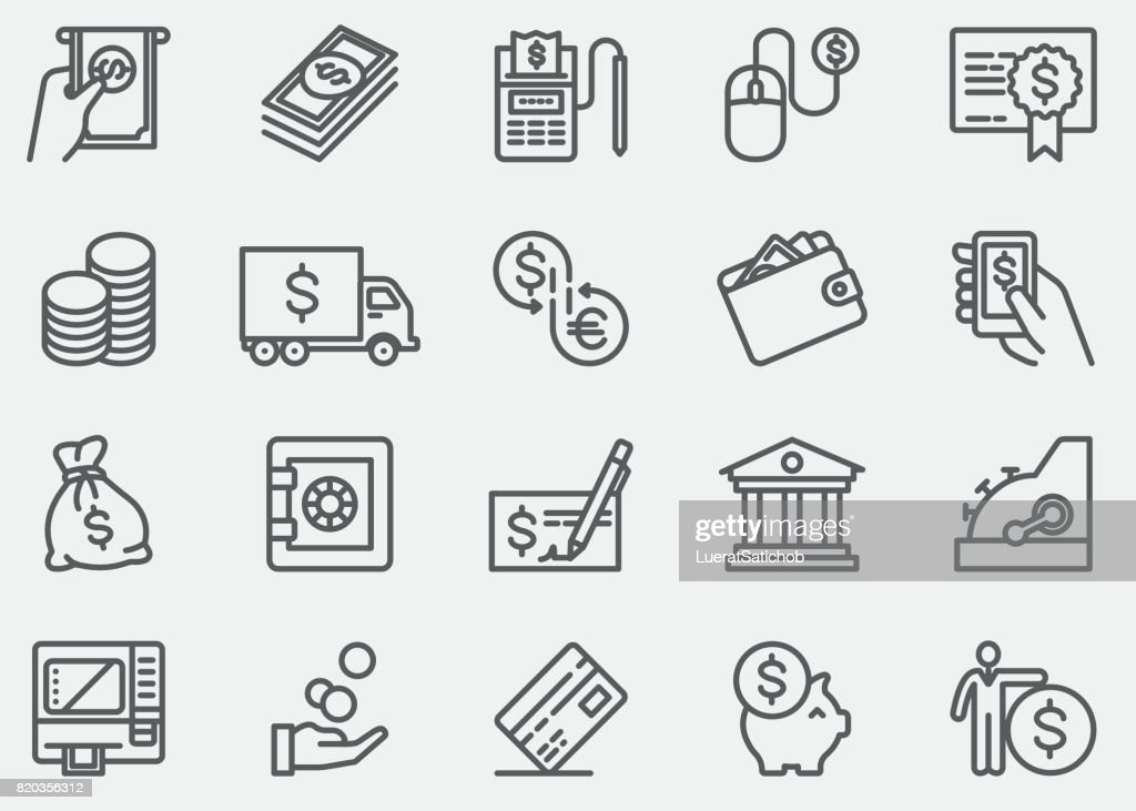 Money And Payment Line Icons