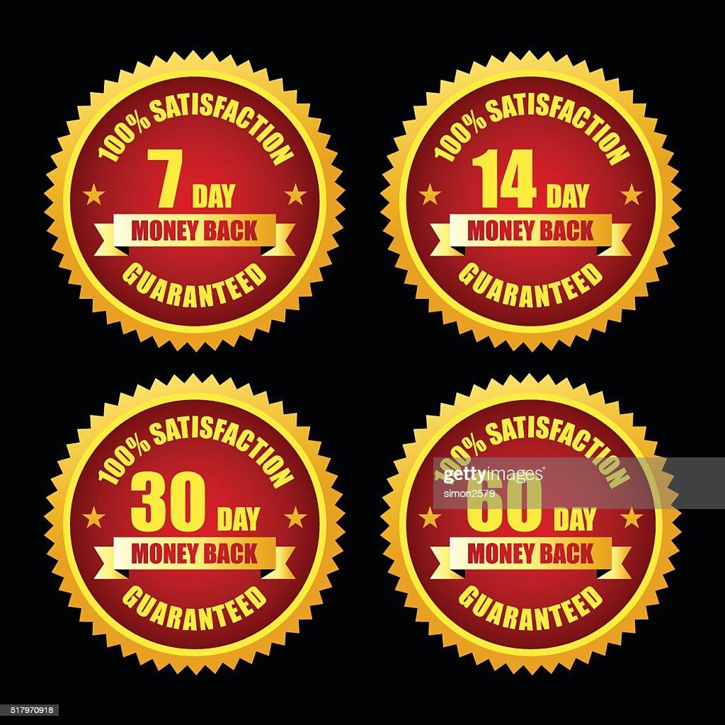 Money Back Guarantee Emblem Set