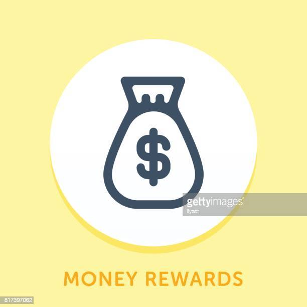 Money Bag Curve Icon