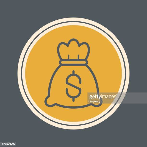 money bag icon - millionnaire stock illustrations, clip art, cartoons, & icons