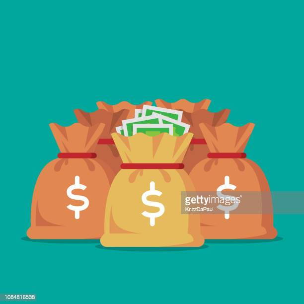 money bag - money bag stock illustrations