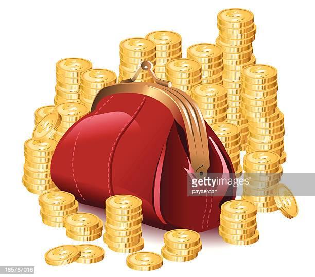 money bag - flare stack stock illustrations, clip art, cartoons, & icons
