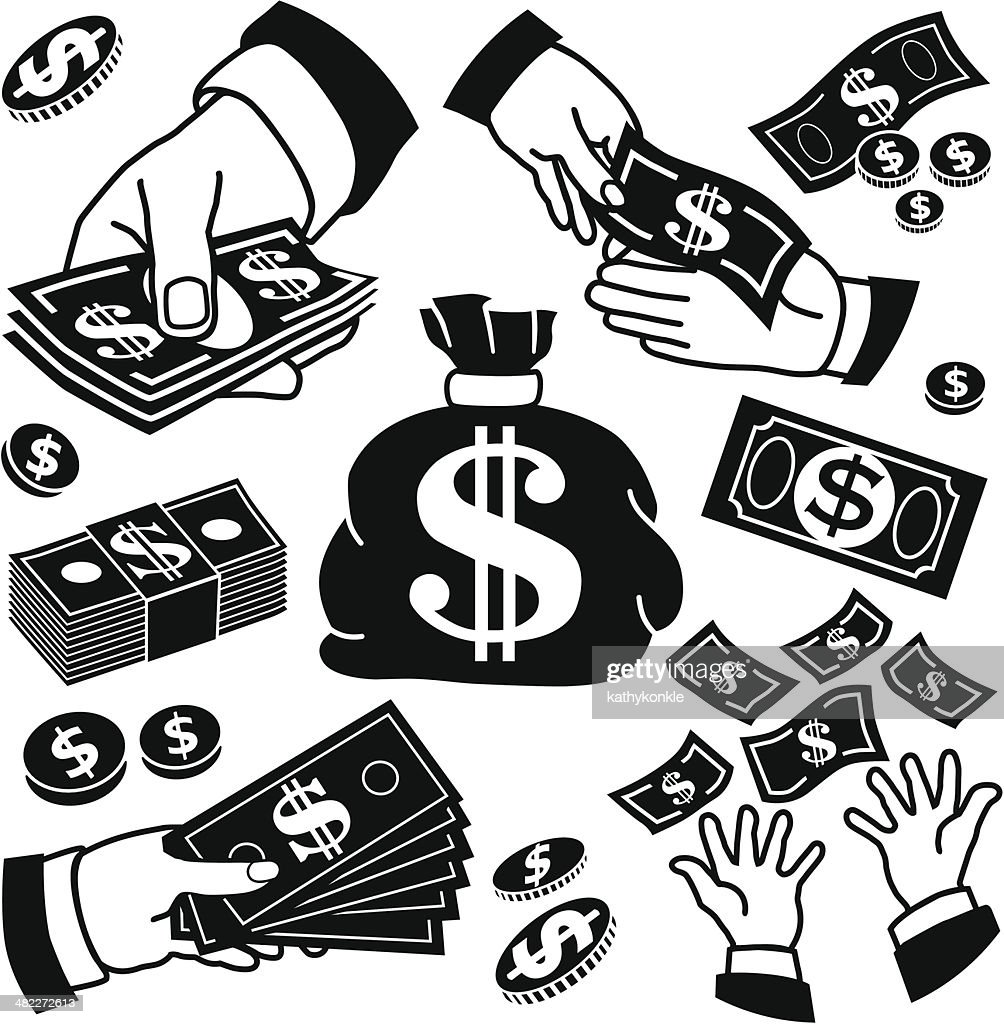 money bag vector art getty images rh gettyimages com Blank Dollar Bill Clip Art Dollar Bill Clip Art Black and White