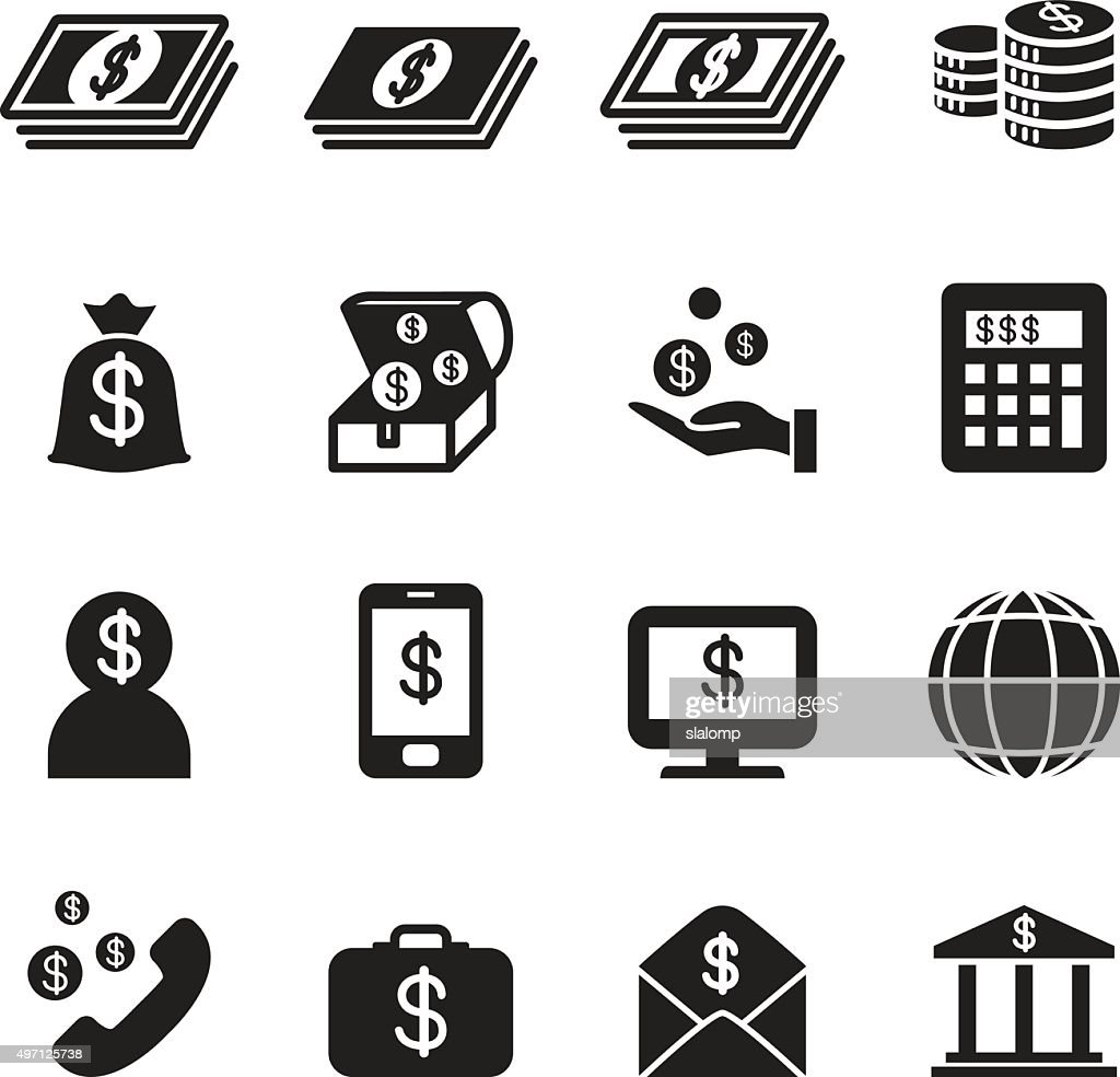 Money, Bank , investment icons set
