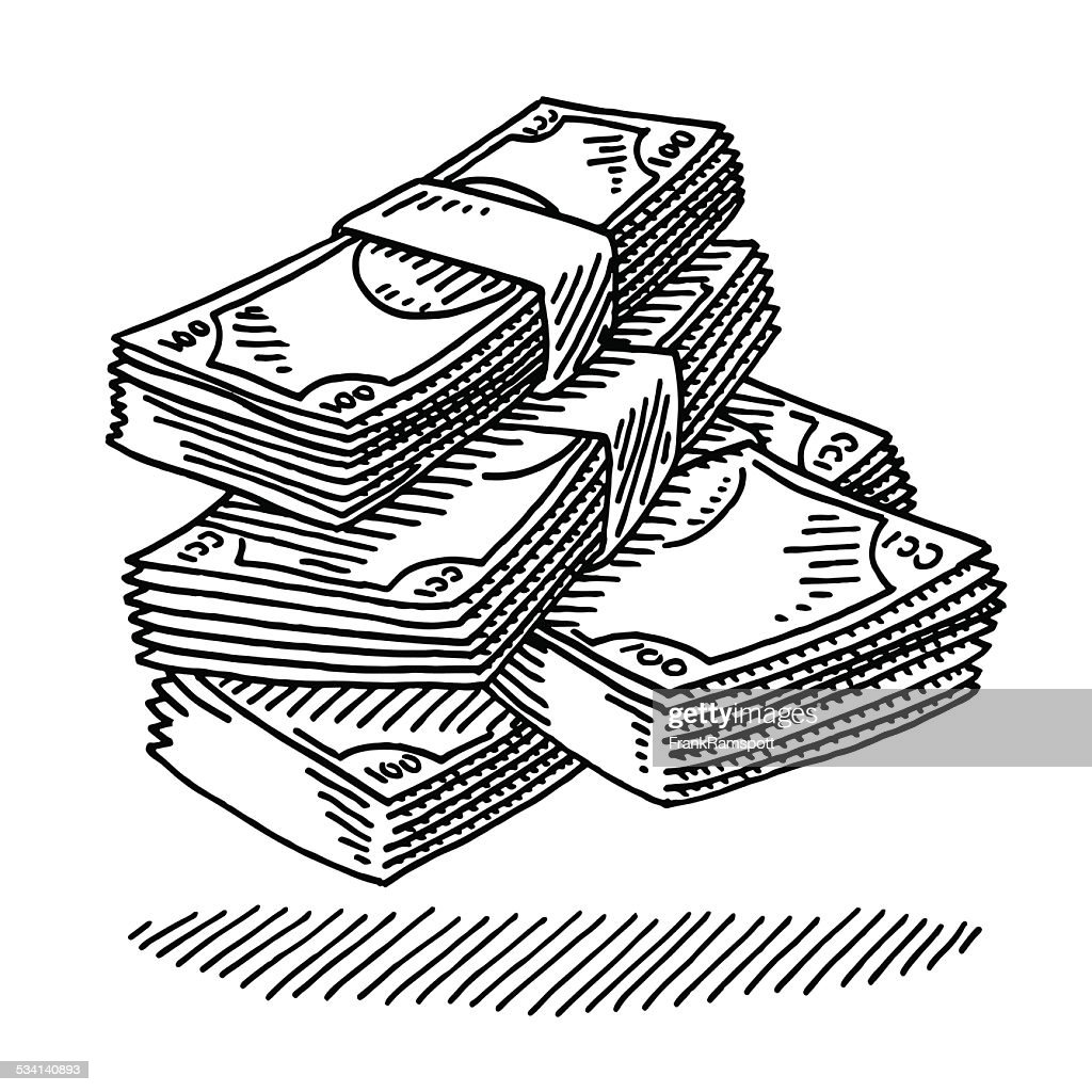 money banknotes drawing vector art getty images