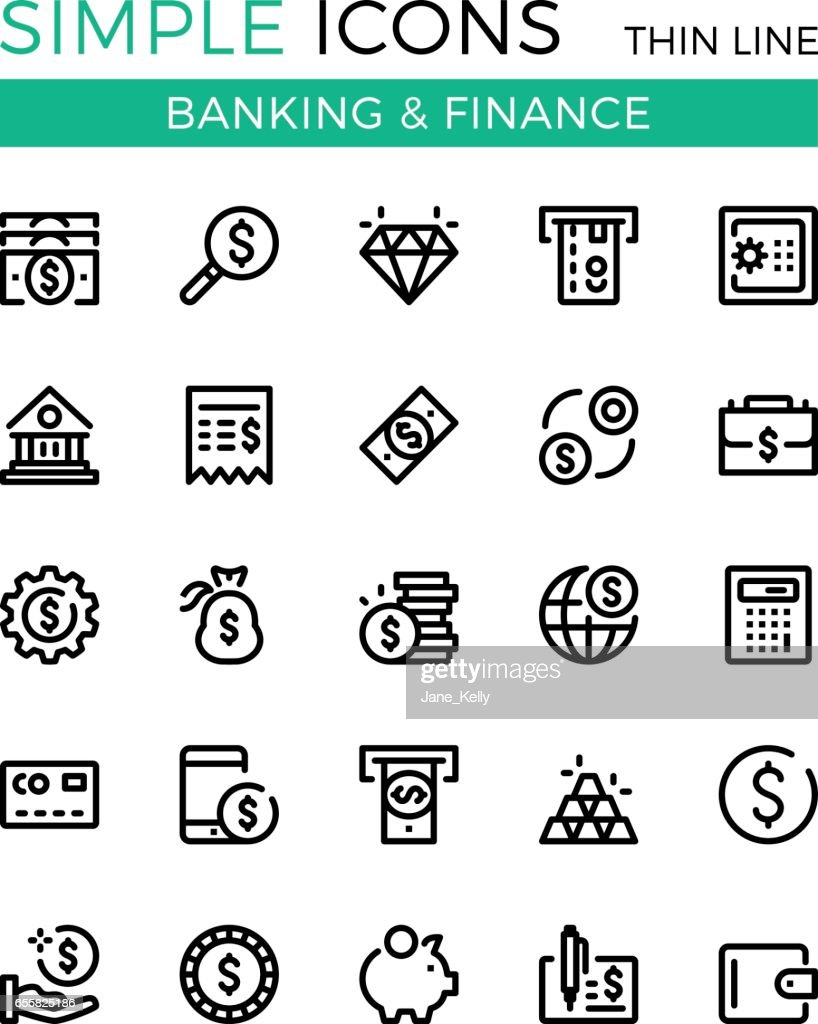 Money, business, banking, finance vector thin line icons set. 32x32 px. Modern line graphic design concepts for websites, web design, etc. Pixel perfect vector outline icons set