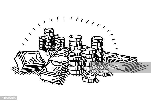 マネーコインと Banknotes 図面